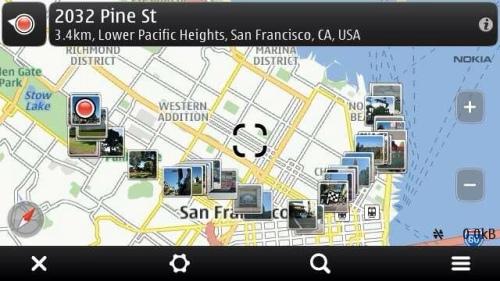 Photos over map.